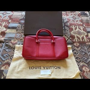 Louis Vuitton Cowhide Red Leather Purse